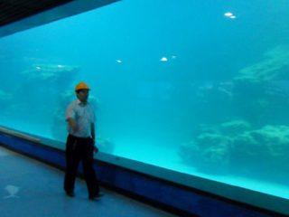 Panel akrilik UV dinding cor untuk akuarium, oceanarium