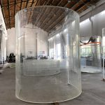 lengkung lucite acrylic plexi glass plate untuk akuarium laut