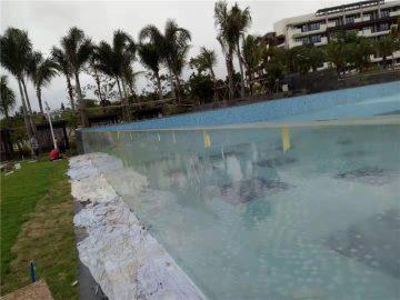 panel kolam renang akrilik custom cut outdoor