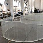 cermin akrilik melengkung lembaran plastik untuk akuarium tangki ikan