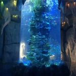 panel akrilik transparan untuk akuarium besar, tangki ikan